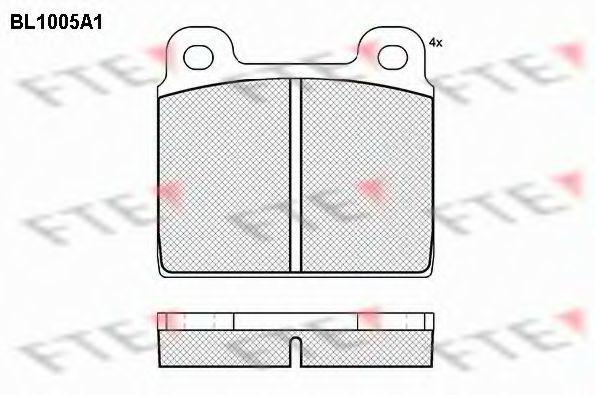 Комплект тормозных колодок, дисковый тормоз FTE BL1005A1
