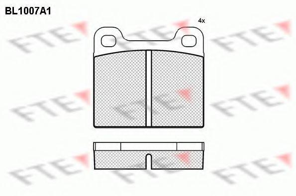 Комплект тормозных колодок, дисковый тормоз FTE BL1007A1