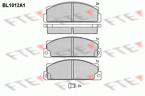 Комплект тормозных колодок, дисковый тормоз FTE BL1012A1