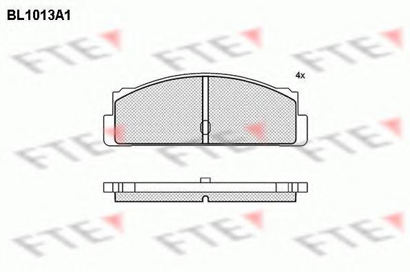 Комплект тормозных колодок, дисковый тормоз FTE BL1013A1