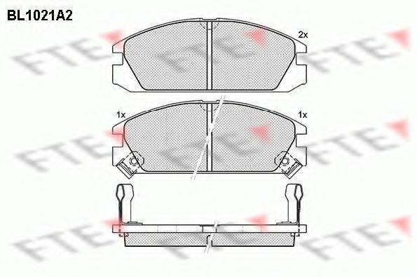 Комплект тормозных колодок, дисковый тормоз FTE BL1021A2