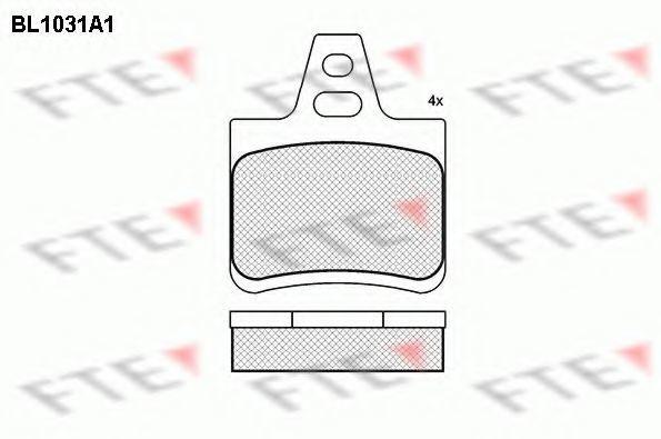 Комплект тормозных колодок, дисковый тормоз FTE BL1031A1