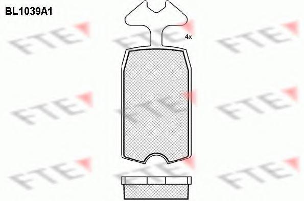 Комплект тормозных колодок, дисковый тормоз FTE BL1039A1