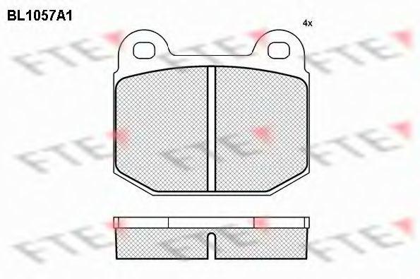 Комплект тормозных колодок, дисковый тормоз FTE BL1057A1