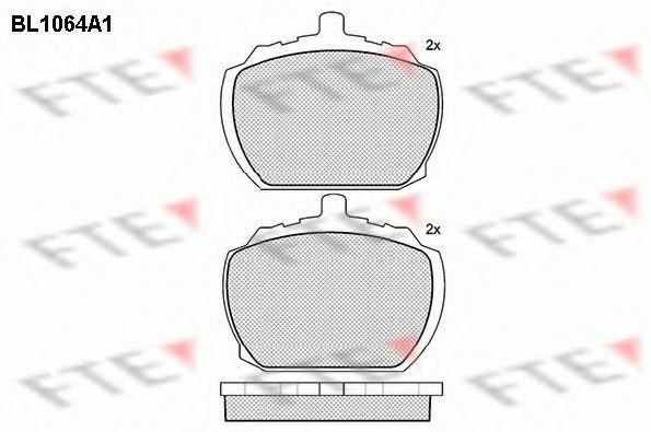 Комплект тормозных колодок, дисковый тормоз FTE BL1064A1
