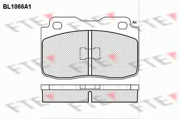 Комплект тормозных колодок, дисковый тормоз FTE BL1066A1