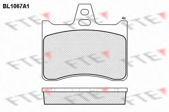 Комплект тормозных колодок, дисковый тормоз FTE BL1067A1