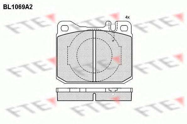 Комплект тормозных колодок, дисковый тормоз FTE BL1069A2