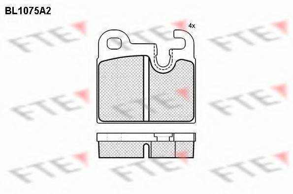 Комплект тормозных колодок, дисковый тормоз FTE BL1075A2