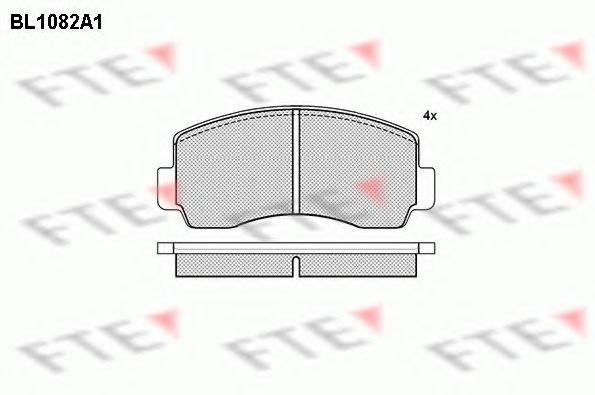 Комплект тормозных колодок, дисковый тормоз FTE BL1082A1