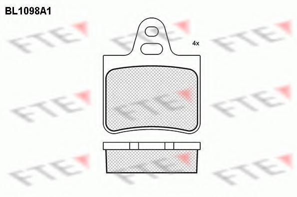 Комплект тормозных колодок, дисковый тормоз FTE BL1098A1