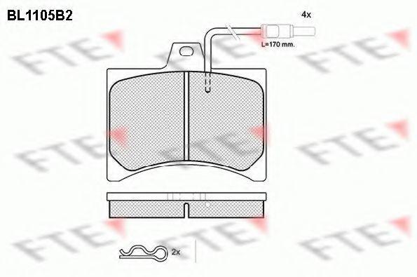Комплект тормозных колодок, дисковый тормоз FTE BL1105B2