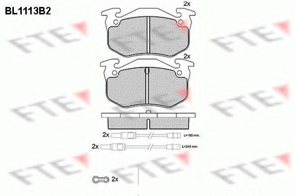 Комплект тормозных колодок, дисковый тормоз FTE BL1113B2