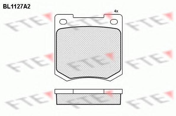 Комплект тормозных колодок, дисковый тормоз FTE BL1127A2