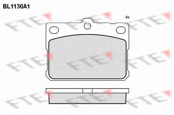 Комплект тормозных колодок, дисковый тормоз FTE BL1130A1