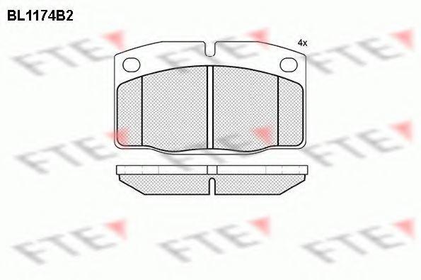 Комплект тормозных колодок, дисковый тормоз FTE BL1174B2