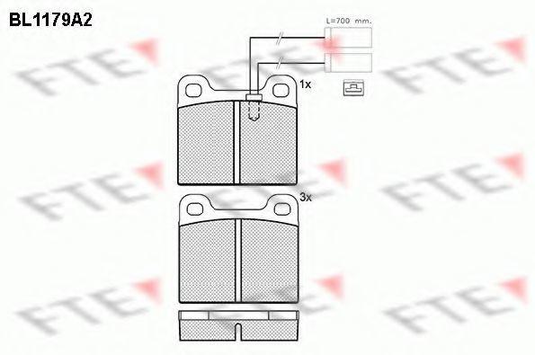 Комплект тормозных колодок, дисковый тормоз FTE BL1179A2