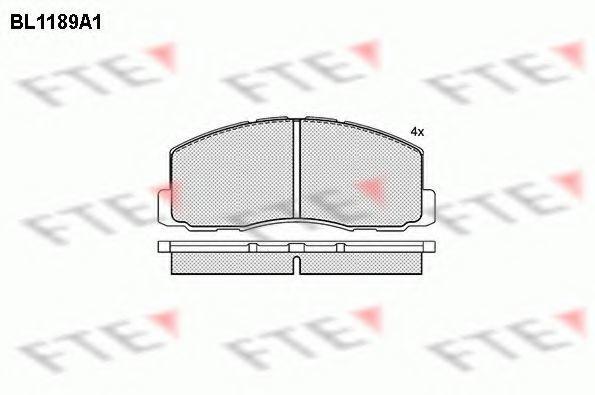 Комплект тормозных колодок, дисковый тормоз FTE BL1189A1