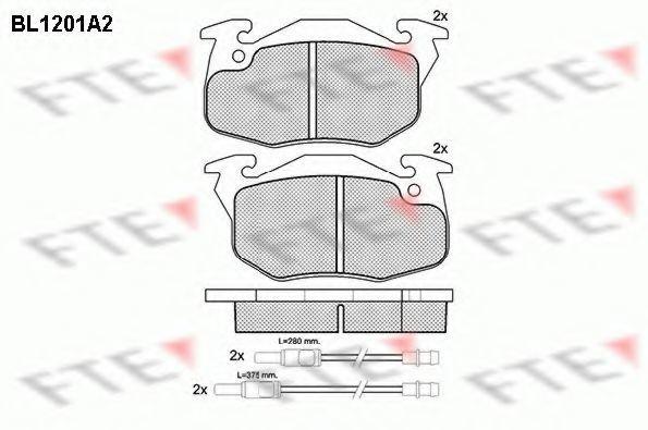 Комплект тормозных колодок, дисковый тормоз FTE BL1201A2