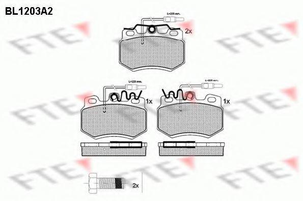 Комплект тормозных колодок, дисковый тормоз FTE BL1203A2
