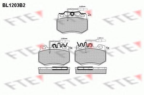 Комплект тормозных колодок, дисковый тормоз FTE BL1203B2