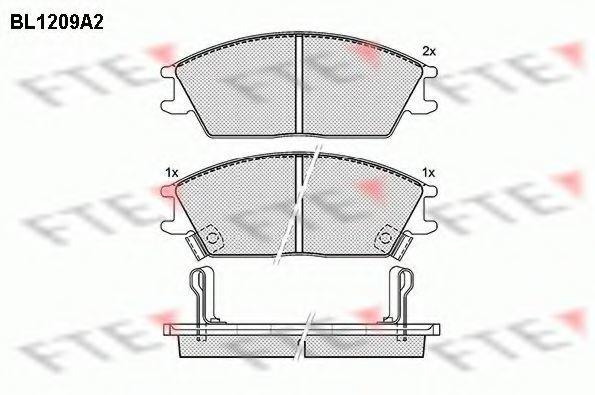 Комплект тормозных колодок, дисковый тормоз FTE BL1209A2