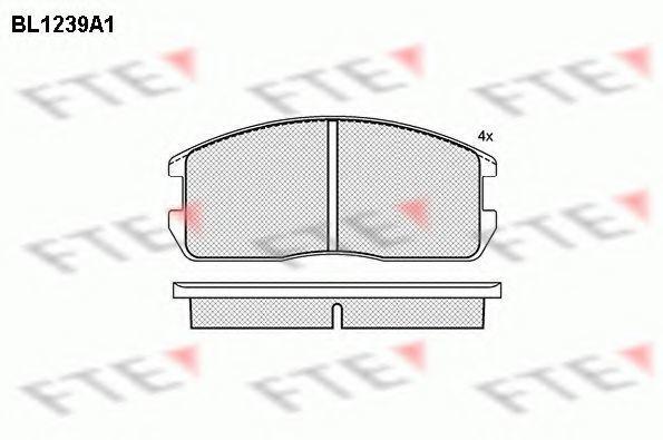 Комплект тормозных колодок, дисковый тормоз FTE BL1239A1