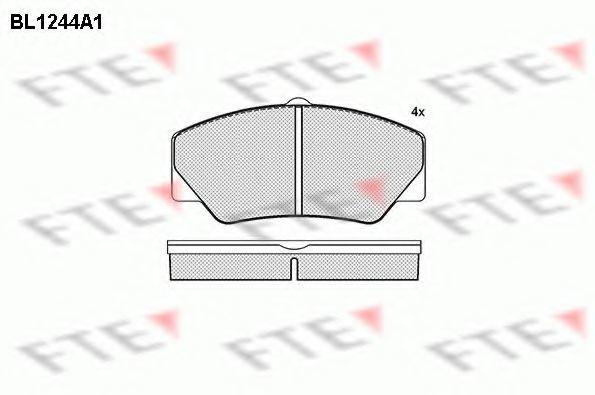 Комплект тормозных колодок, дисковый тормоз FTE BL1244A1
