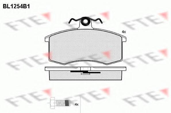 Комплект тормозных колодок, дисковый тормоз FTE BL1254B1