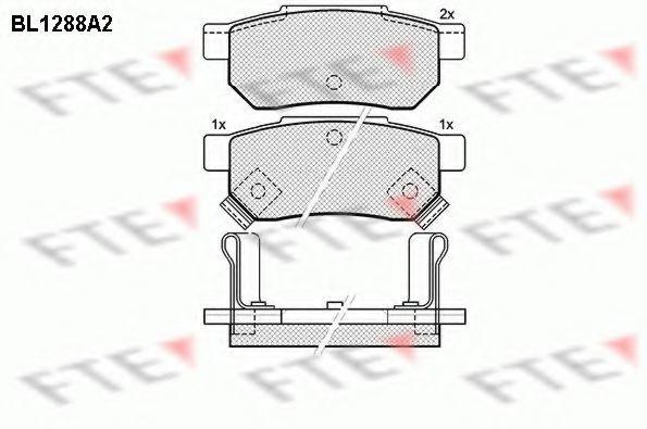 Комплект тормозных колодок, дисковый тормоз FTE BL1288A2