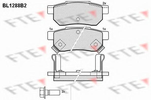 Комплект тормозных колодок, дисковый тормоз FTE BL1288B2