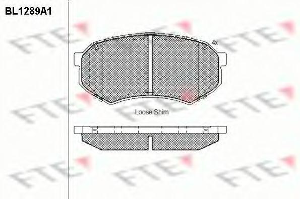 Комплект тормозных колодок, дисковый тормоз FTE BL1289A1
