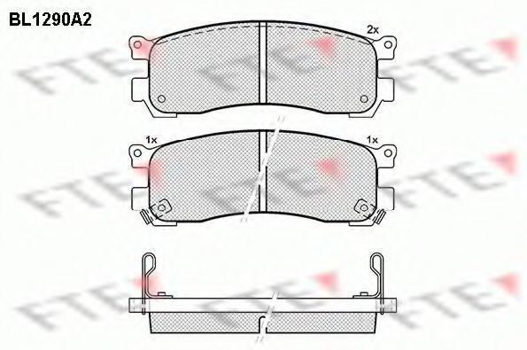 Комплект тормозных колодок, дисковый тормоз FTE BL1290A2