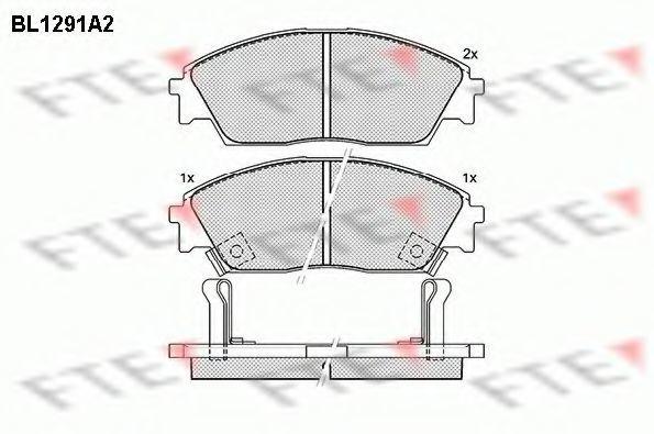 Комплект тормозных колодок, дисковый тормоз FTE BL1291A2