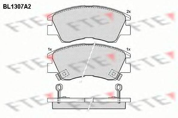 Комплект тормозных колодок, дисковый тормоз FTE BL1307A2