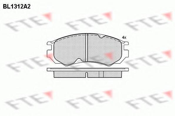 Комплект тормозных колодок, дисковый тормоз FTE BL1312A2
