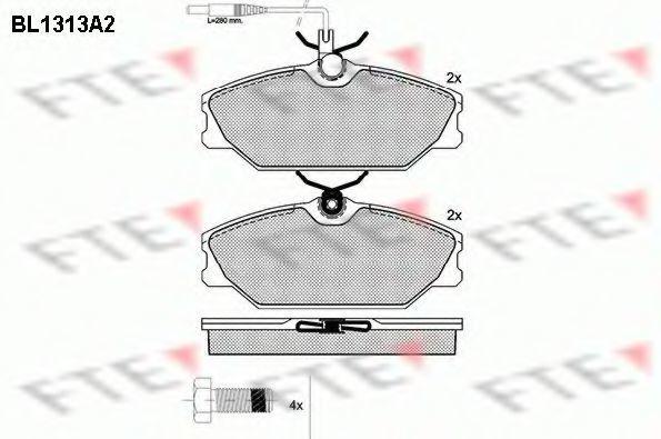 Комплект тормозных колодок, дисковый тормоз FTE BL1313A2