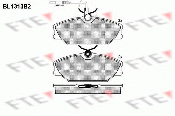 Комплект тормозных колодок, дисковый тормоз FTE BL1313B2