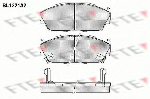 Комплект тормозных колодок, дисковый тормоз FTE BL1321A2