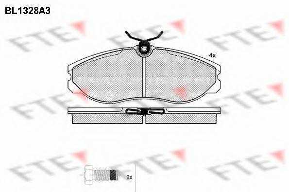 Комплект тормозных колодок, дисковый тормоз FTE BL1328A3