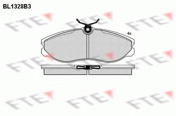 Комплект тормозных колодок, дисковый тормоз FTE BL1328B3