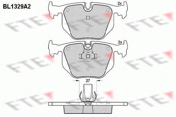 Комплект тормозных колодок, дисковый тормоз FTE BL1329A2