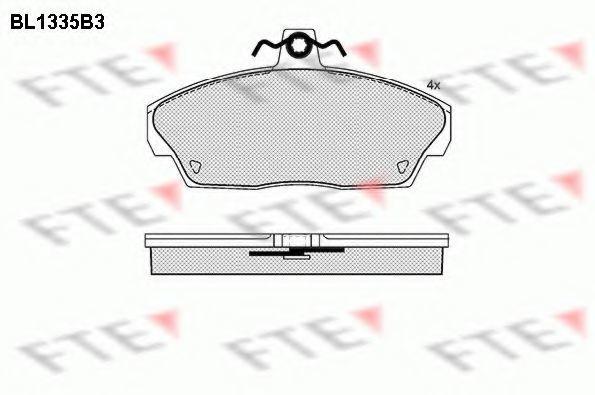 Комплект тормозных колодок, дисковый тормоз FTE BL1335B3