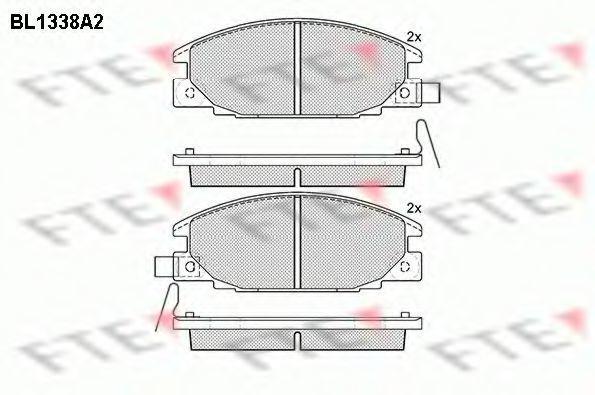 Комплект тормозных колодок, дисковый тормоз FTE BL1338A2