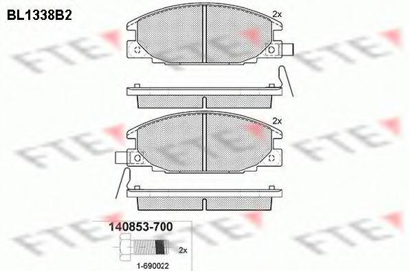 Комплект тормозных колодок, дисковый тормоз FTE BL1338B2
