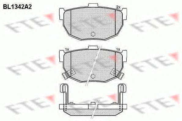 Комплект тормозных колодок, дисковый тормоз FTE BL1342A2