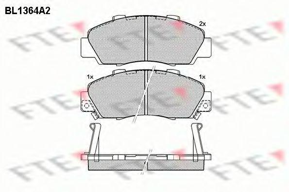 Комплект тормозных колодок, дисковый тормоз FTE BL1364A2