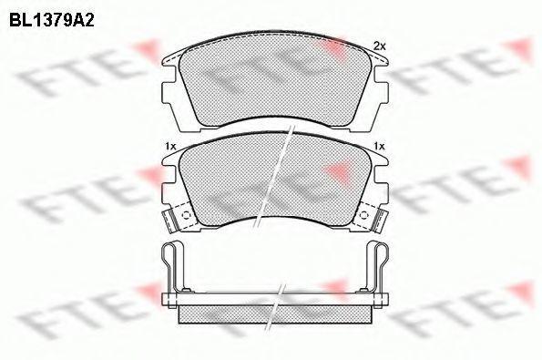 Комплект тормозных колодок, дисковый тормоз FTE BL1379A2