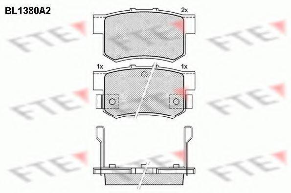 Комплект тормозных колодок, дисковый тормоз FTE BL1380A2
