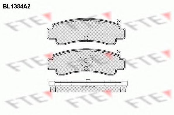 Комплект тормозных колодок, дисковый тормоз FTE BL1384A2
